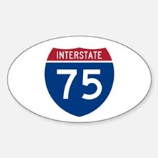 Interstate 75 Oval Decal