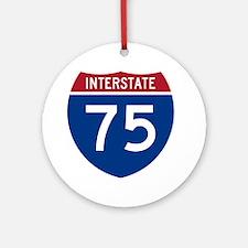 Interstate 75 Ornament (Round)