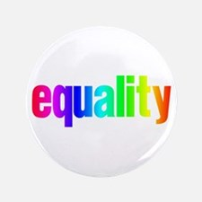 """Rainbow Equality 3.5"""" Button"""