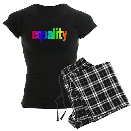 Rainbow Equality Women's Dark Pajamas