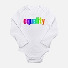 Rainbow Equality Long Sleeve Infant Bodysuit