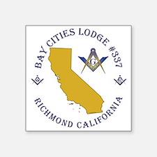 "Bay Cities Lodge Square Sticker 3"" x 3"""