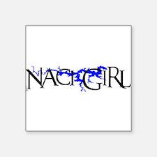 "NACI3_BLK1 Square Sticker 3"" x 3"""