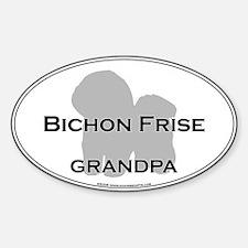 Bichon Frise GRANDPA Oval Decal