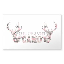 REAL GIRLS WEAR CAMO Decal