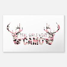 REAL GIRLS WEAR CAMO Decal