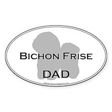 Bichon Frise DAD Oval Decal
