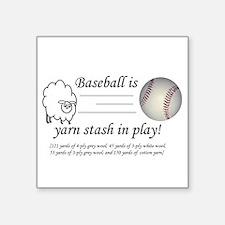 "Yarnball05242010.png Square Sticker 3"" x 3"""