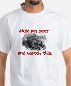 Hold My Beer And Watch This Ash Grey T-Shirt Shirt