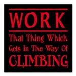 Work and Climbing Square Car Magnet 3