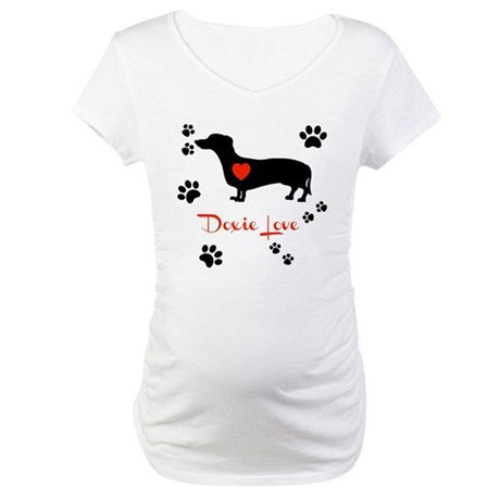 Doxie Love Maternity T-Shirt