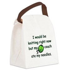 couchateneedles.jpg Canvas Lunch Bag