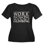 Work and Climbing Women's Plus Size Scoop Neck Dar