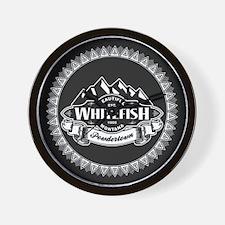 Whitefish Mountain Emblem Wall Clock