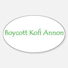 Boycott Kofi Annon Oval Decal
