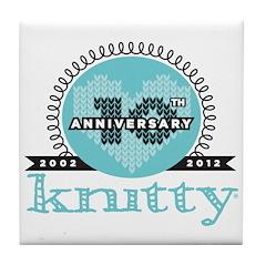 10th Anniversary Seaside Blue Tile Coaster