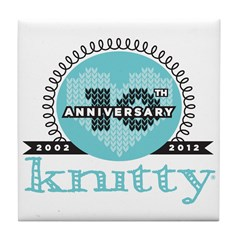 10th Anniversary Seaside Blue Tile Coaster