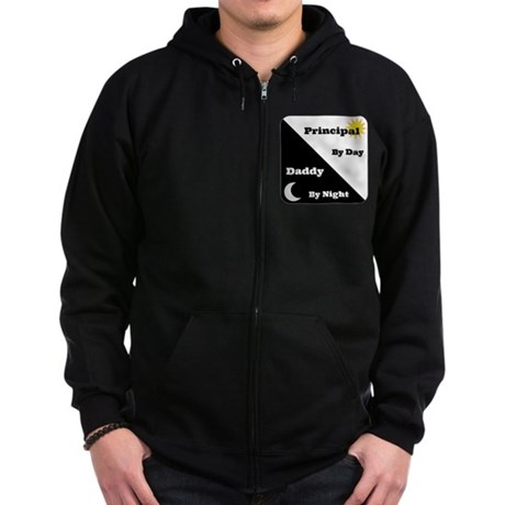 Principal by day Daddy by night Zip Hoodie (dark)