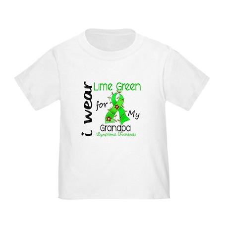 I Wear Lime 43 Lymphoma Toddler T-Shirt