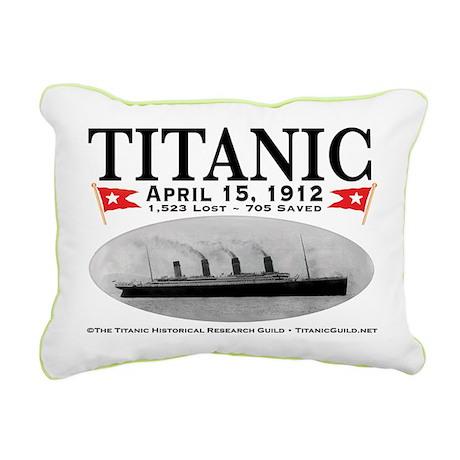 Titanic Ghost Ship (wh) Rectangular Canvas Pillow