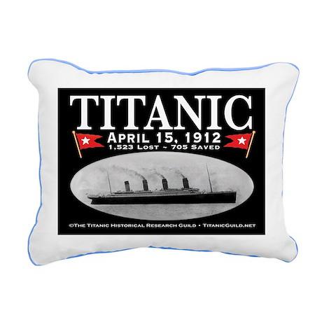 Titanic Ghost Ship (bl) Rectangular Canvas Pillow