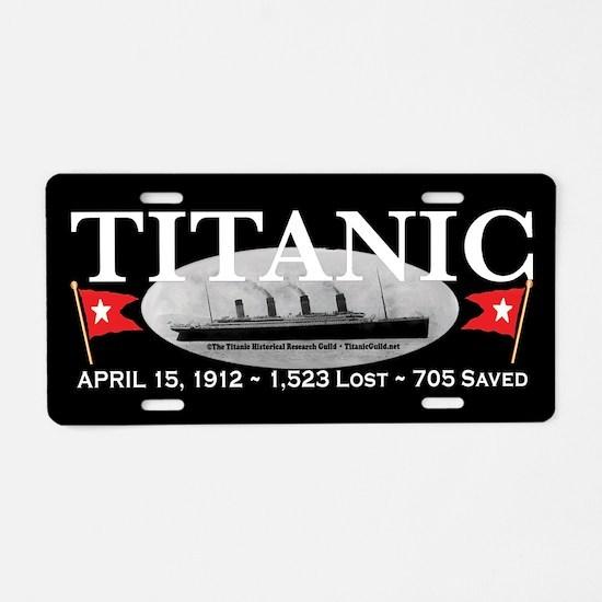 Titanic Ghost Ship (black) Aluminum License Plate