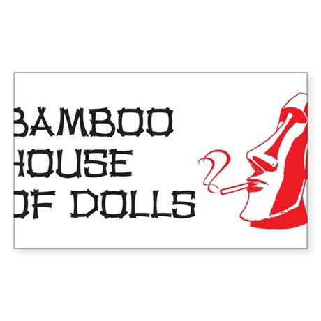 Bamboo House of Dolls Sticker (Rectangle)