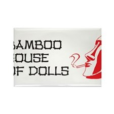 Bamboo House of Dolls Rectangle Magnet