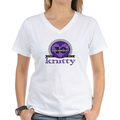 10th Anniversary Purple Women's V-Neck T-Shirt