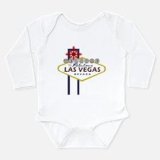 VegasSign.PNG Long Sleeve Infant Bodysuit