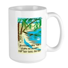 Blessed are the pure in heart Mug