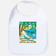 Blessed are the pure in heart Bib