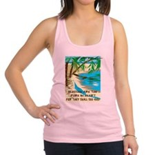 Blessed are the pure in heart Racerback Tank Top