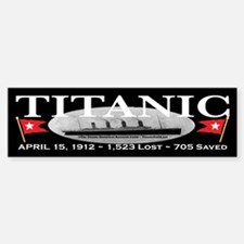 Titanic Ghost Ship (black) Bumper Bumper Bumper Sticker