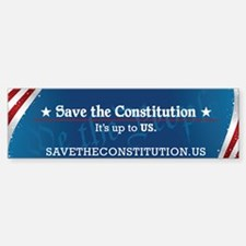 Save the Constitution Bumper Car Car Sticker