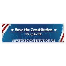 Save the Constitution Bumper Car Sticker