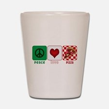 PeaceLovePizza.png Shot Glass