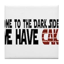 DarkSideCake.png Tile Coaster