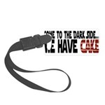 DarkSideCake.png Small Luggage Tag