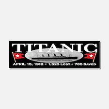 Titanic Ghost Ship (black) Car Magnet 10 x 3