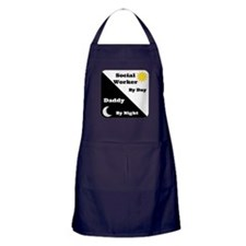 Social Worker by day Daddy by night Apron (dark)