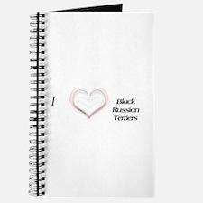 I heart Black Russian Terriers Journal
