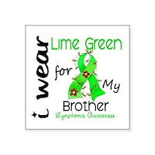 "I Wear Lime 43 Lymphoma Square Sticker 3"" x 3"""