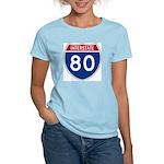 Interstate 80 Women's Pink T-Shirt