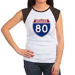 Interstate 80 Women's Cap Sleeve T-Shirt