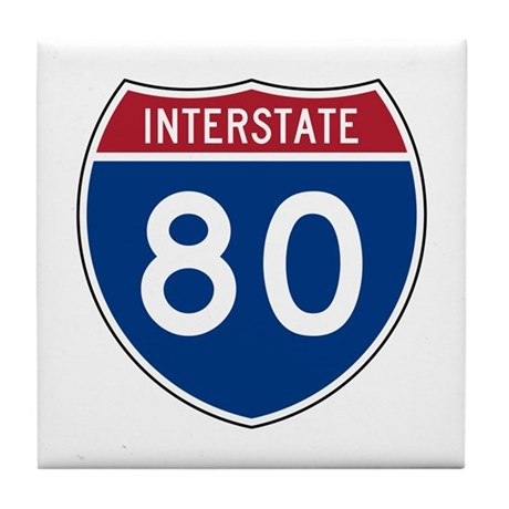 Interstate 80 Tile Coaster