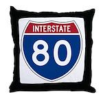 Interstate 80 Throw Pillow