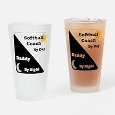 Softball Coach by day Daddy by night Drinking Glas