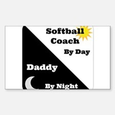 Softball Coach by day Daddy by night Decal