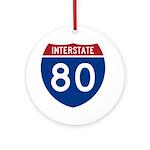 Interstate 80 Ornament (Round)